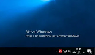 scritta Attiva Windows