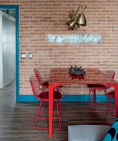 decoração-arquitetura-sala-de-jantar-com-parede-tijolinho