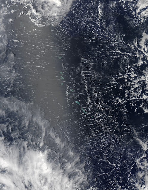 Clouds over Pacific Ocean