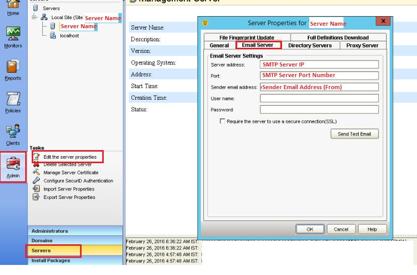 sepm update server certificate