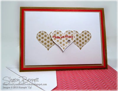 Stampin Up Groovy Love Card