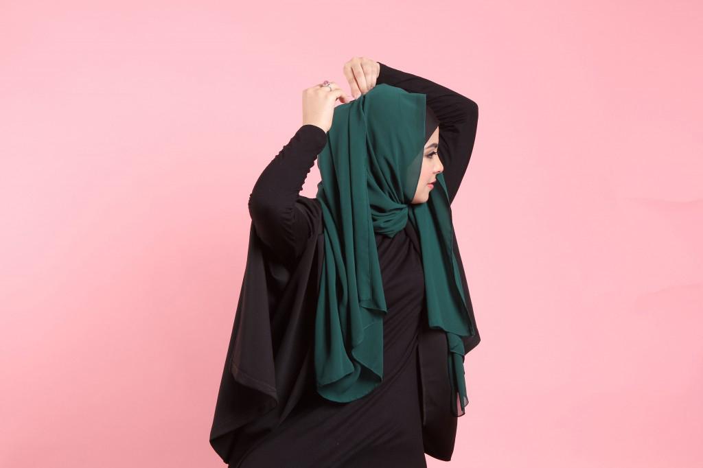 ukuran dada hijaber cantik dan seksi