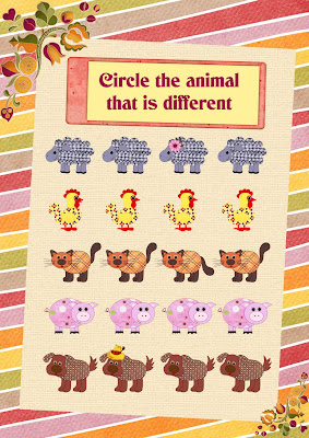 farm animals worksheet for English learning