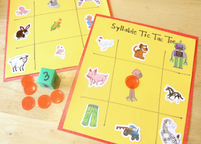 Understanding how to break a work up into syllables will help your child's reading and spelling skills.  So make learning fun with a game!