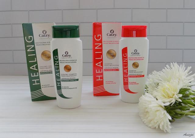 Precz z łupieżem- szampony Healing Catzy