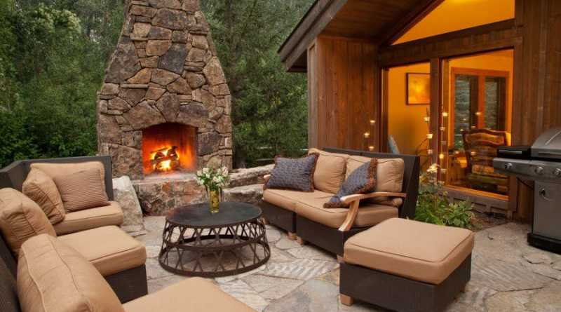 Backyard Outdoor Fireplace Plan, Outdoor Fireplace Design Ideas ...