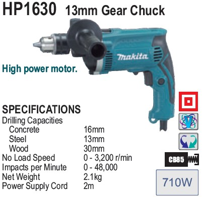 Review Bor tangan Makita HP 1630