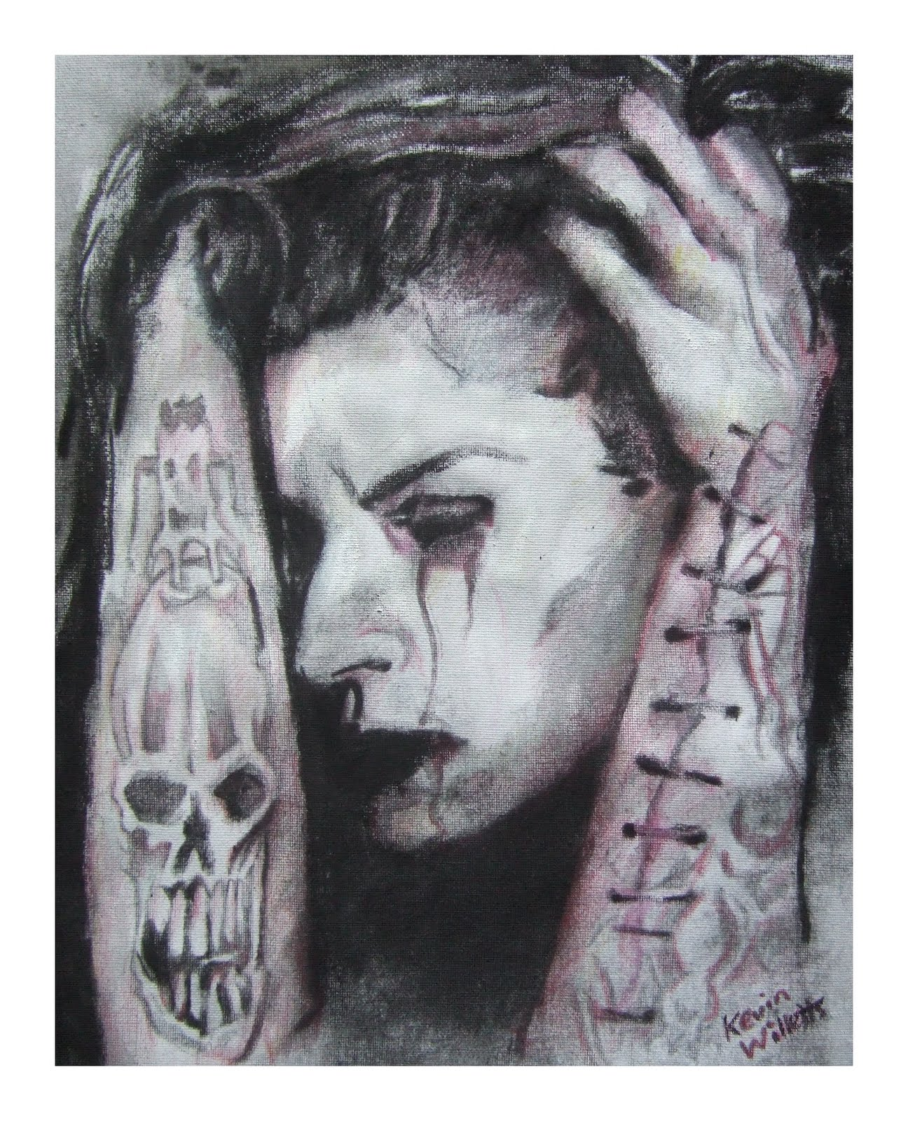 Art Works By Kevin Willetts New Paintings Self Harm