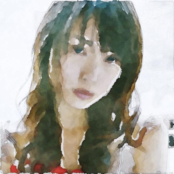 水彩画の戸田恵梨香