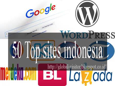 50 Top sites indonesia-rank Alexa.com