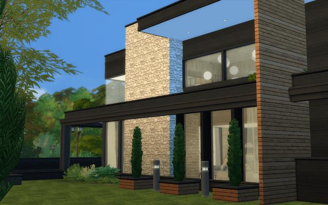 maison moderne pour sims 4