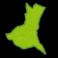 茨城県の地図のイラスト(都道府県)