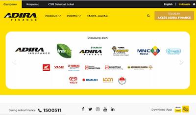 halaman situs website adira finance sahabat selamanya