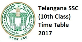 Telangana SSC Time Table