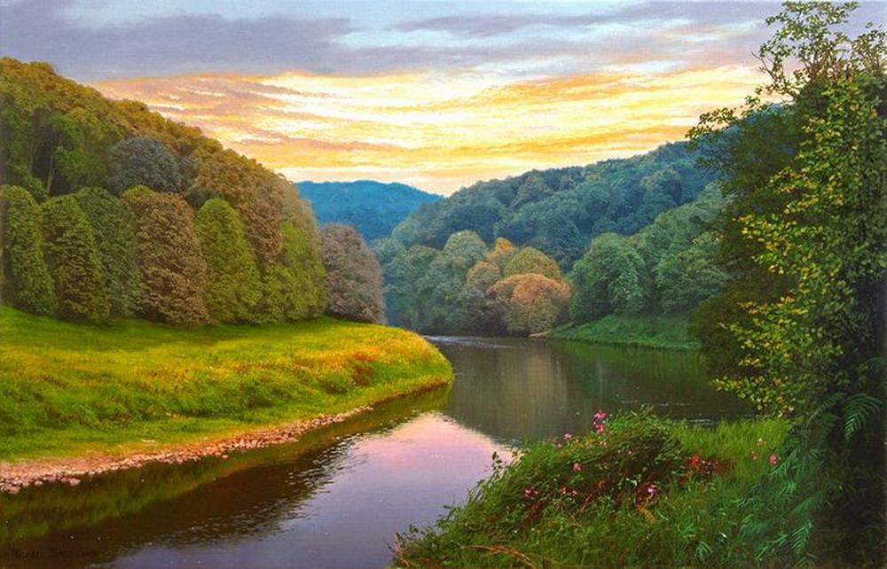 Im genes arte pinturas paisajes m gicos pintados for Michael james smith paintings
