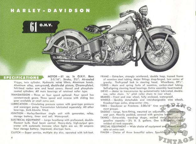 1948 harley davidson brochure riding vintage. Black Bedroom Furniture Sets. Home Design Ideas