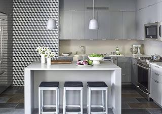 Dekorasi minimalis untuk dapur sudah dengan meja makan