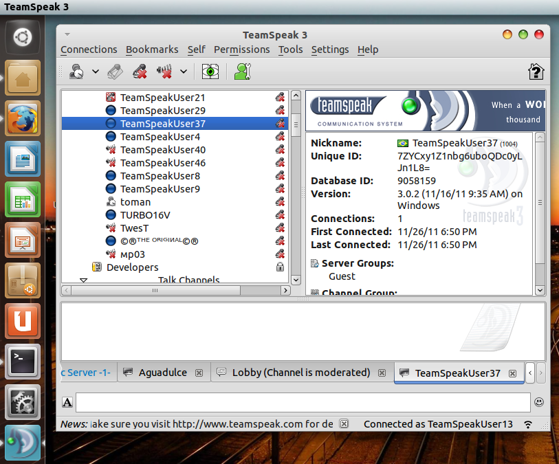 TeamSpeak 3: An Awesome Voice Chat Software For Ubuntu