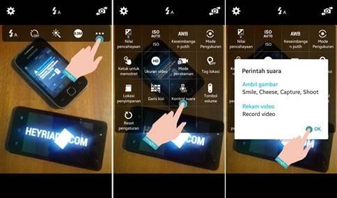 Cara Foto Menggunakan Suara di Android