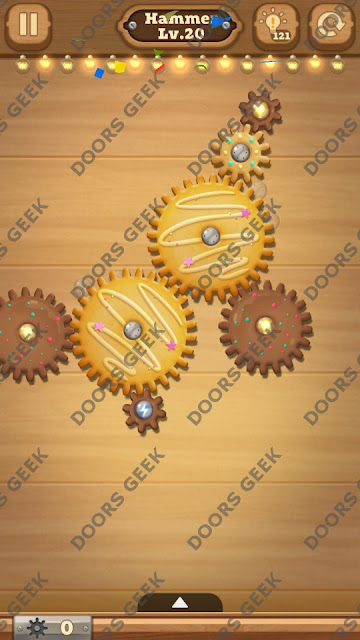 Fix it: Gear Puzzle [Hammer] Level 20 Solution, Cheats, Walkthrough for Android, iPhone, iPad and iPod