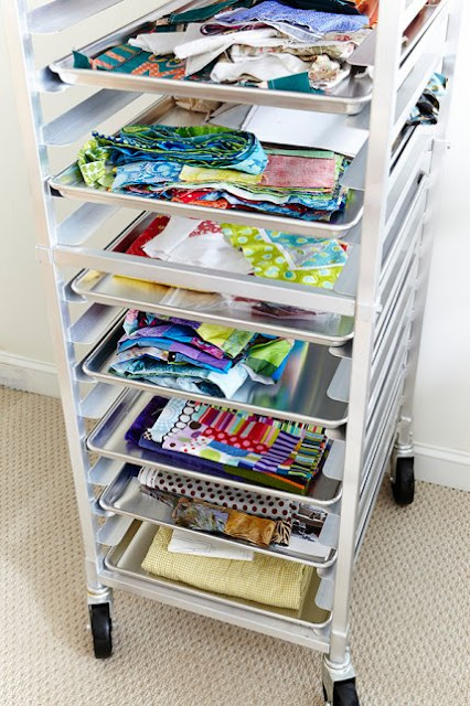 Quilting project storage and organization tips from A Bright Corner