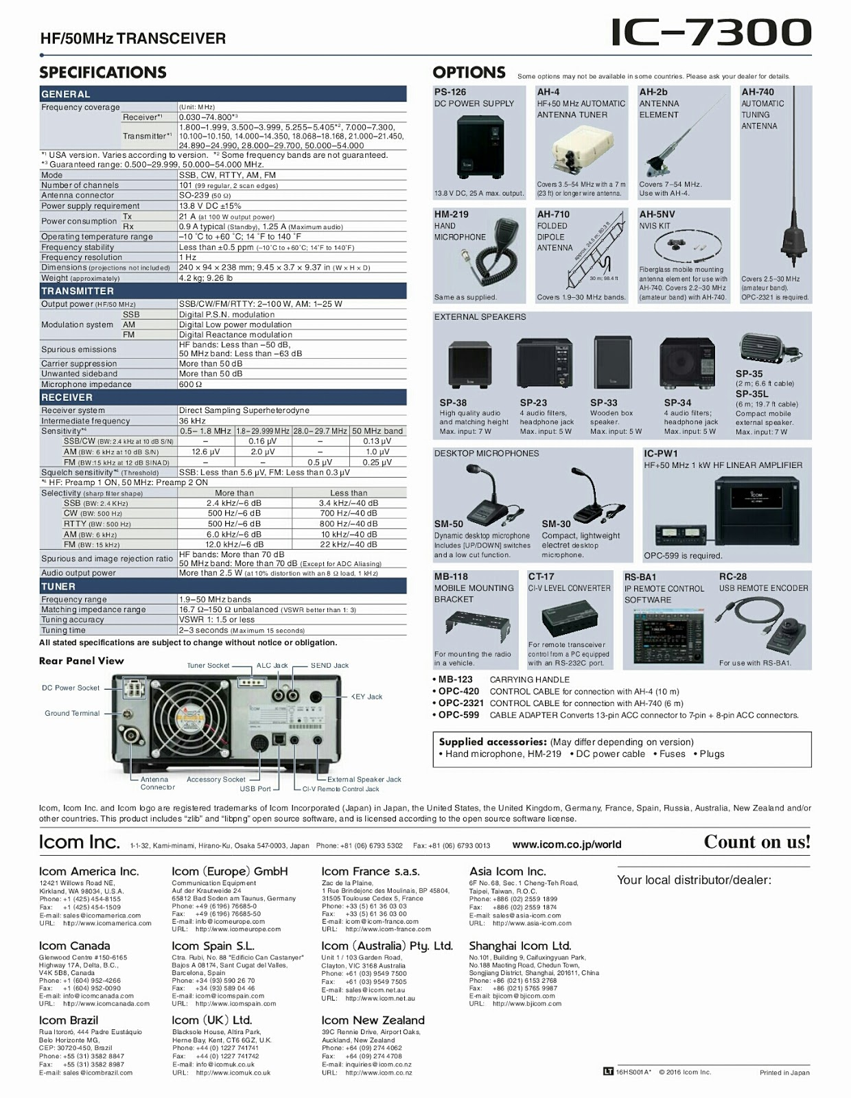 Download Icom 7300 Manual
