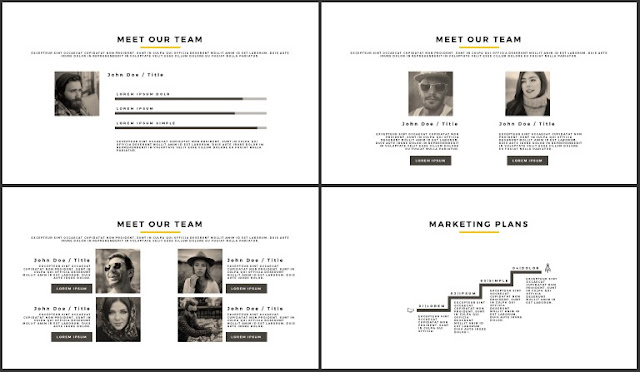 Desktop Screen Mock-up and Multi - Purpose Free PowerPoint Template [SIMPLE] Slides 33-36