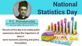 National Statistics Day | Prof. P. C.Mahalanobis
