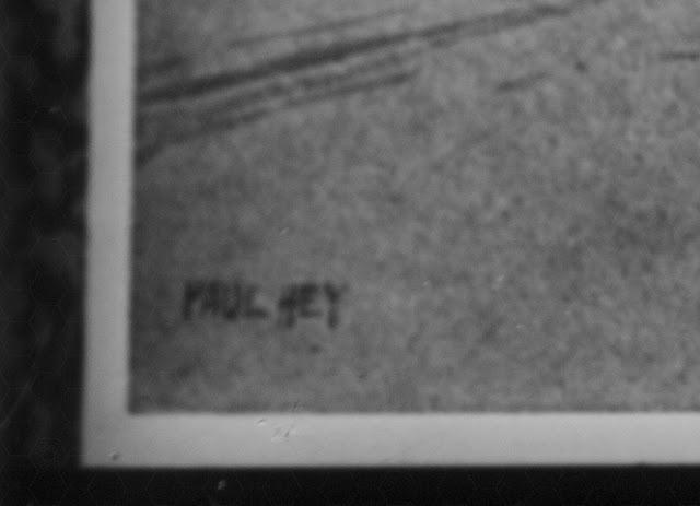Foto-Kopie einer Bildes von Paul Hey - Detail der Signatur