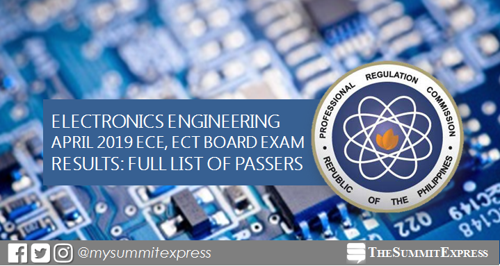 FULL RESULTS: April 2019 ECE, ECT board exam passers list, top 10