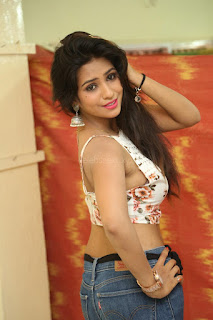 Deekshita Parvathi in a short crop top and Denim Jeans Spicy Pics Beautiful Actress Deekshita Parvathi January 2017 CelebxNext (57).JPG