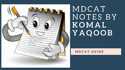 mdcat notes by komal yaqoob