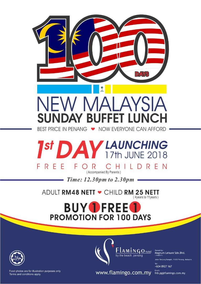 100 Days New Malaysia Sunday Buffet Lunch
