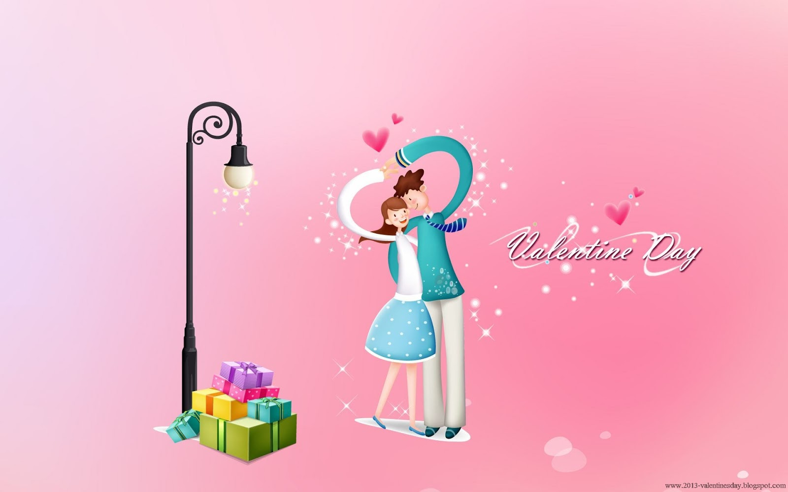 Cute Cartoon Couple Love Hd Wallpapers For Valentines Day I Love
