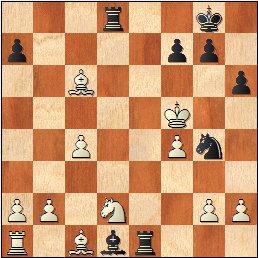 Partida de ajedrez Salinas - Bescos, VI Trofeo Dicen - Mayo de 1972, posición después de 22…h6