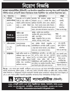 Hamza Laboratories (Unani) Job Circular 2019