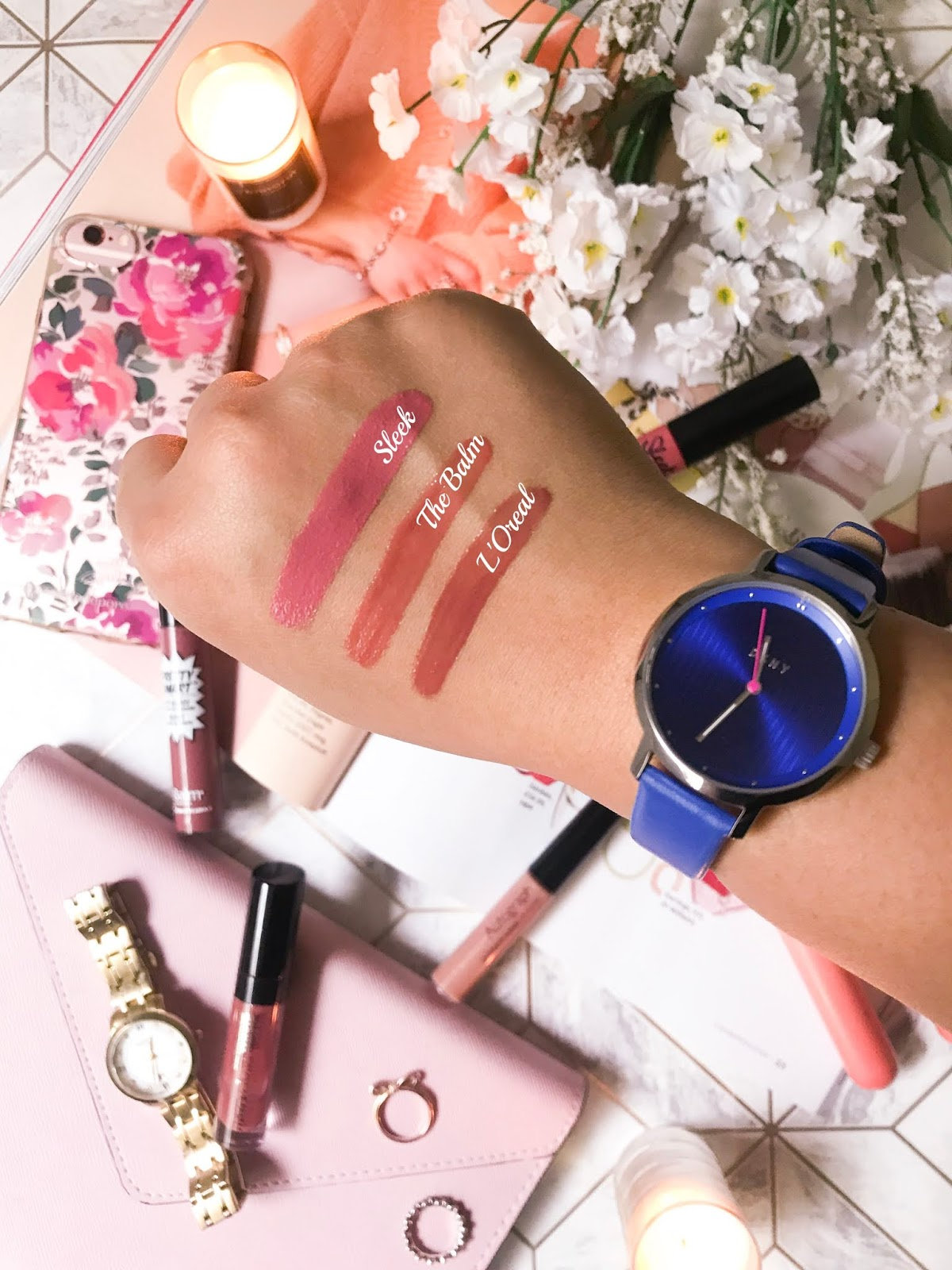 the best non-sticky lip glosses swatches 1
