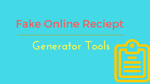 5 best fake online reciept generator tools