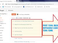 Memasang Serta Mengedit Label Pada Post Atau Konten Di Blogger