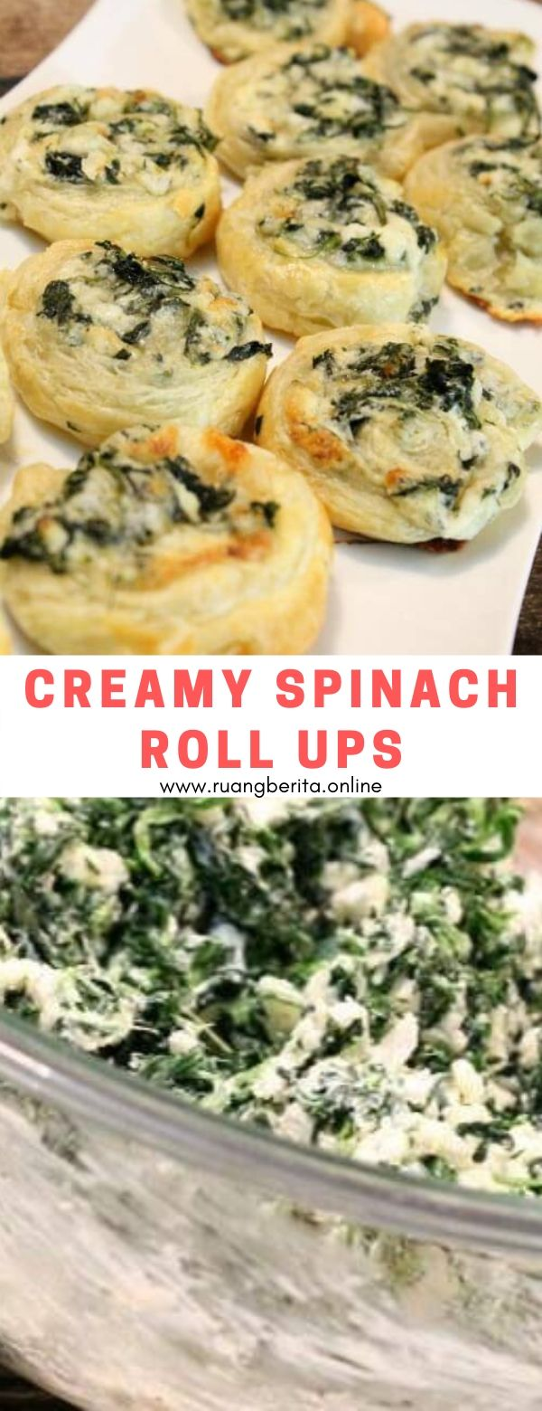 Creamy Spinach Roll Ups #appetizer #creamy #spinach #rollsup