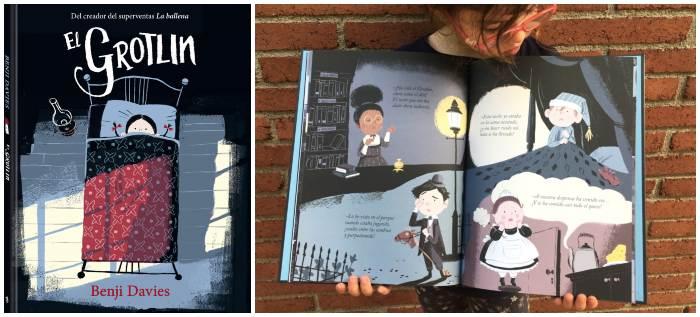 cuento infantil niños halloween El grotlin benji davies, andana