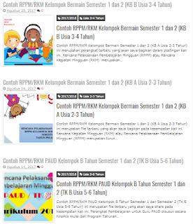 Kumpulan RPPM PAUD/TK Kurikulum 2013 - Bukti Fisik Akreditasi Standar Isi