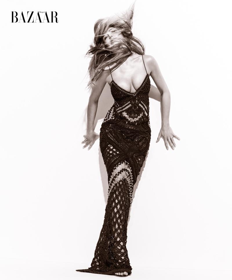 Jennifer Aniston goes glamorous for Harper's Bazaar US October 2017