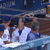 David Freese catches Todd Frazier's bat in Dodgers dugout (Video)