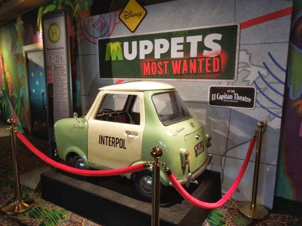 Muppets Most Wanted tiny Interpol car prop