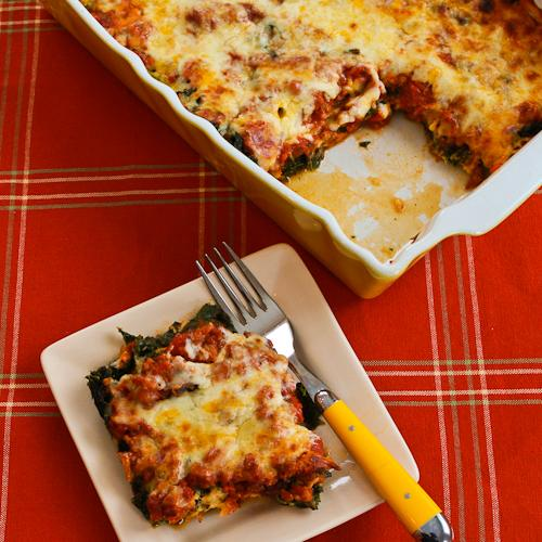 Paleo Delicious Spinach and Turkey Lasagna