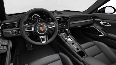 Porsche 911 Turbo S Cabriolet Interior: high quality materials aluminium carbon