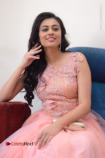 Actress Neha Hinge Stills in Pink Long Dress at Srivalli Teaser Launch  0059.JPG