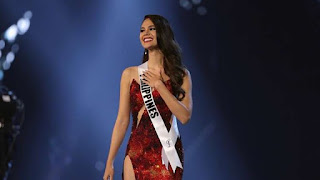 Who is the Philippine Catriona Gray Miss Universe 2018?..The secret of wearing a red dress
