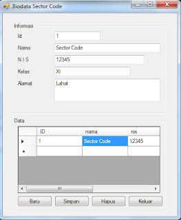 CRUD VB.Net (Create,Read, Update, Delete) Database  Ms Access